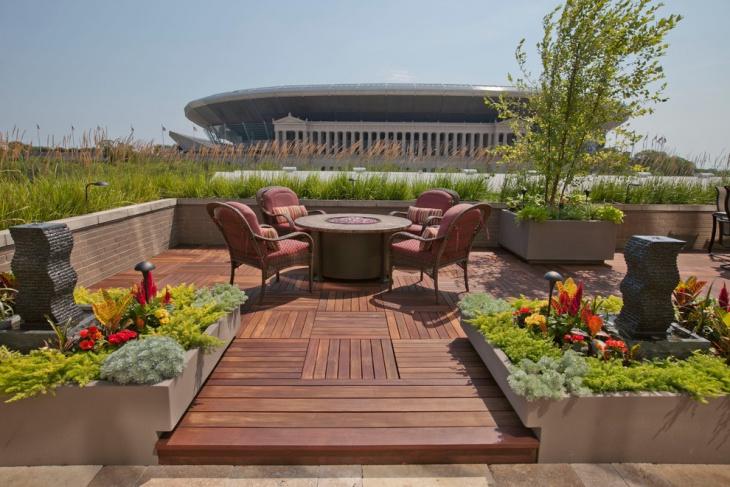 backyard wood deck design