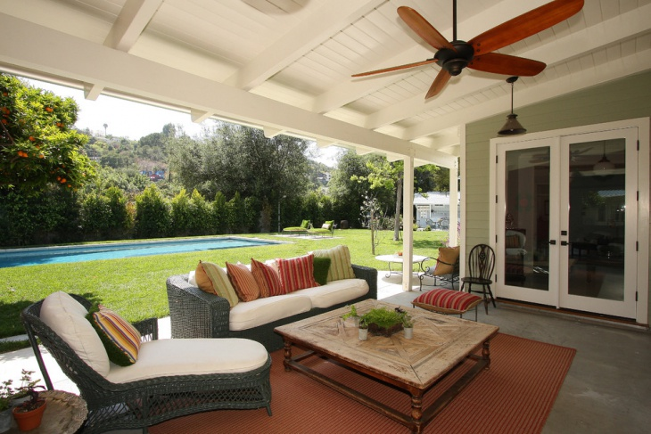 backyard covered porch design