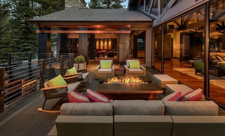 contemporary backyard furniture