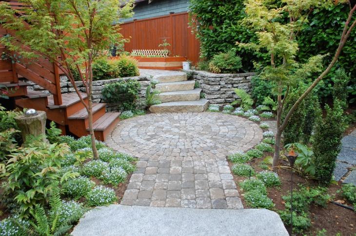 small backyard paver design