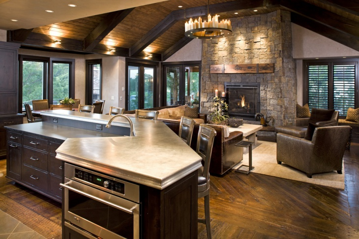 rustic country home interior
