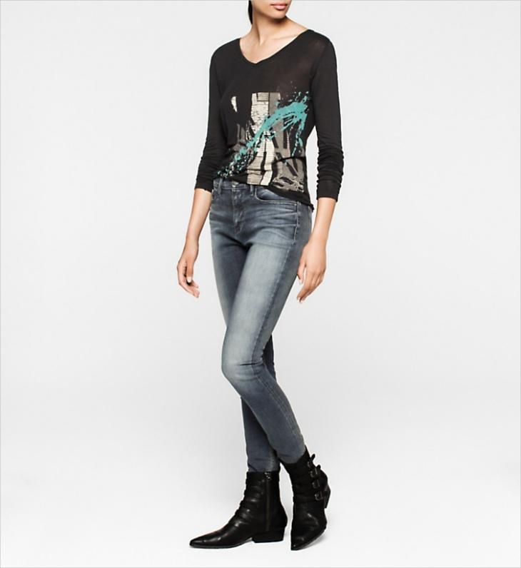 calvin klein curvy high waisted jeans