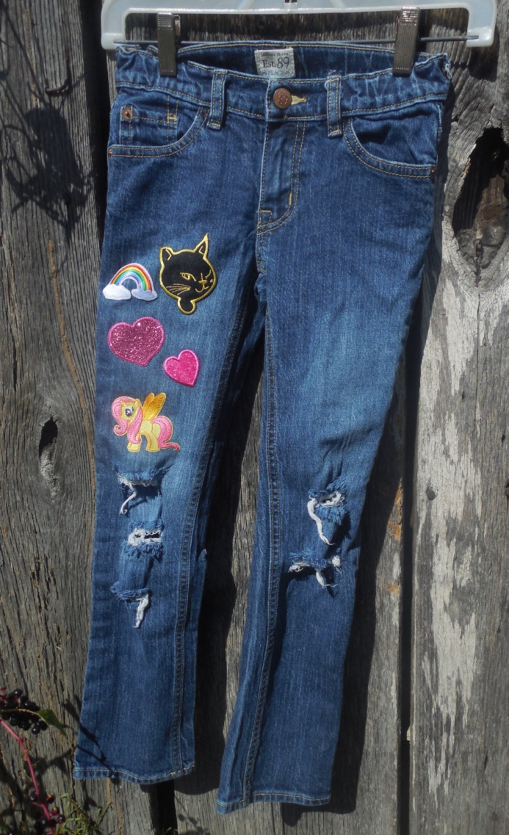 denim embroidered skinny jeans