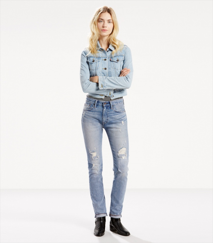 levis funky ripped jeans