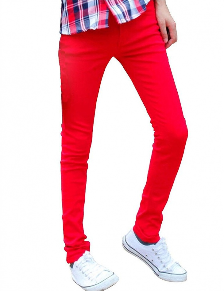 funky colored denim jeans
