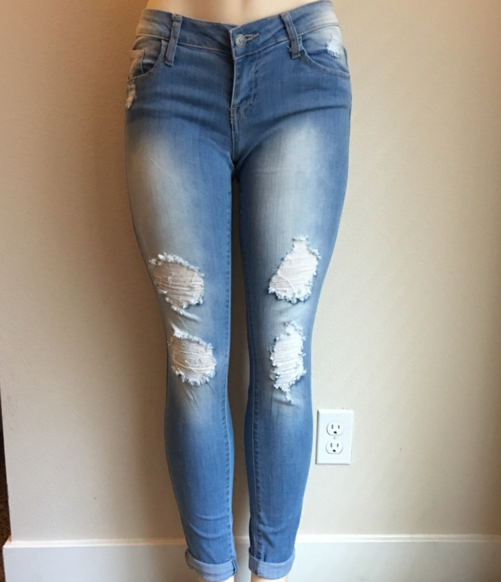 cut up skinny jeans