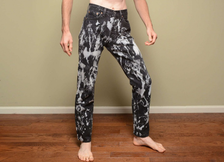 bleached black jeans design