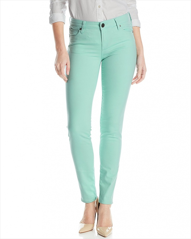 mint colored jeans design