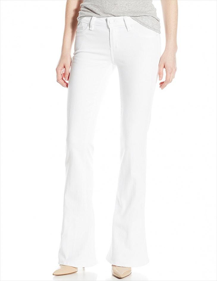 white flare jeans design