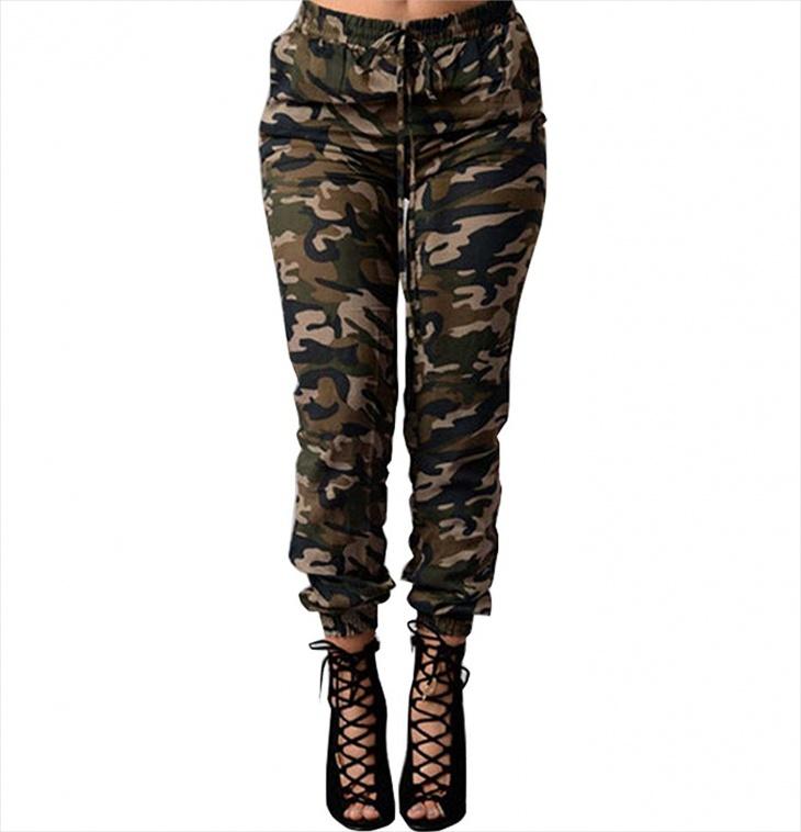 high waisted camo jeans