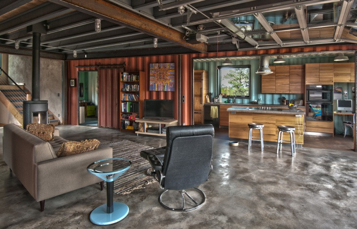 industrial urban home interior design