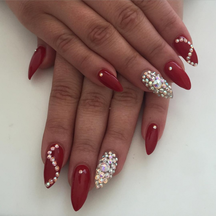 Red design nails graham reid dark red stiletto nail design 41 stiletto nail  art designs ideas - Nail Design Red Gallery - Nail Art And Nail Design Ideas