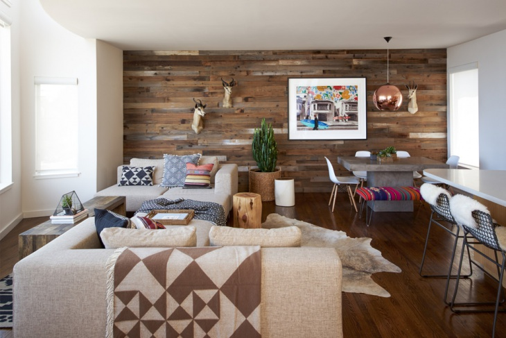 wooden home living room interior design