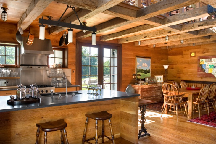 rustic wooden home interior