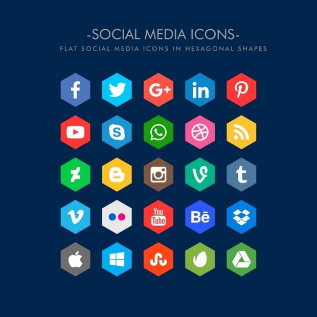 flat social media icon designs