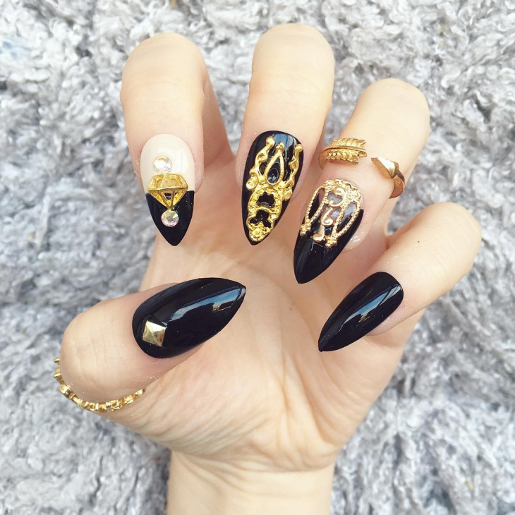 3d Crown Stiletto Nails - 41+ Stiletto Nail Art Designs, Ideas Design  Trends - - Crown Nail Design Graham Reid