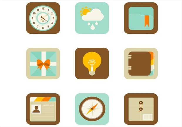 Mobile App Icon Designs