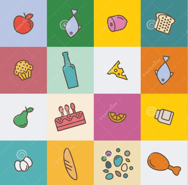 Food Products Icon Designs