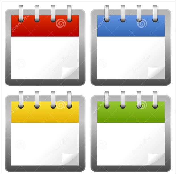 blank calendar icons