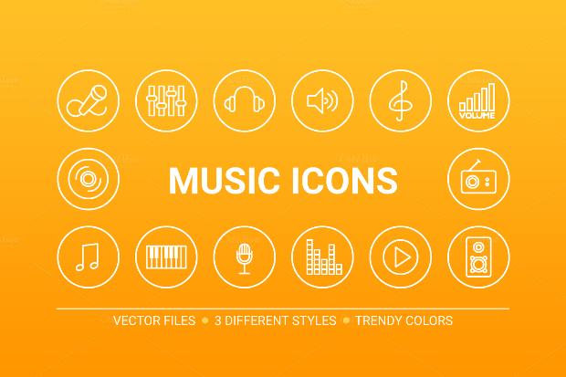 circle music icons