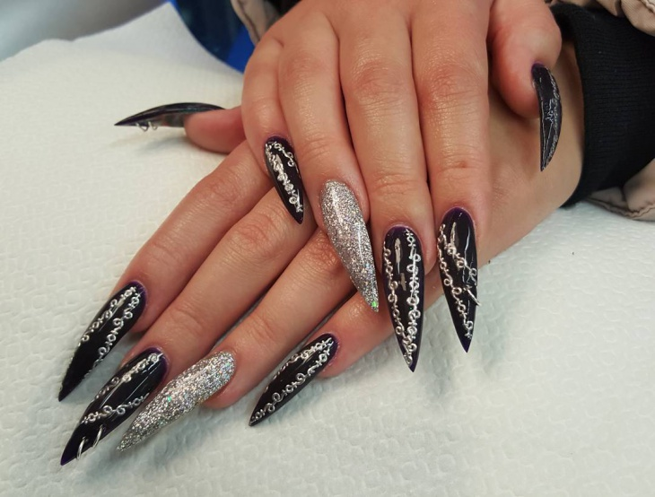 41+ Stiletto Nail Art Designs, Ideas | Design Trends - Premium PSD ...