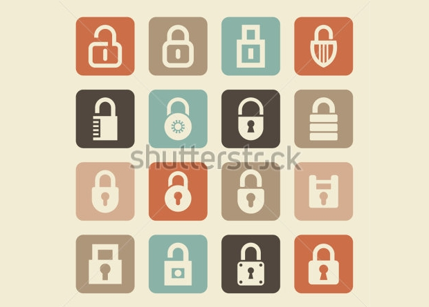 Open and Closed Lock Icon Designs