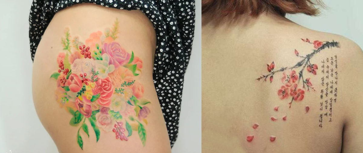 small cherry blossom tattoo