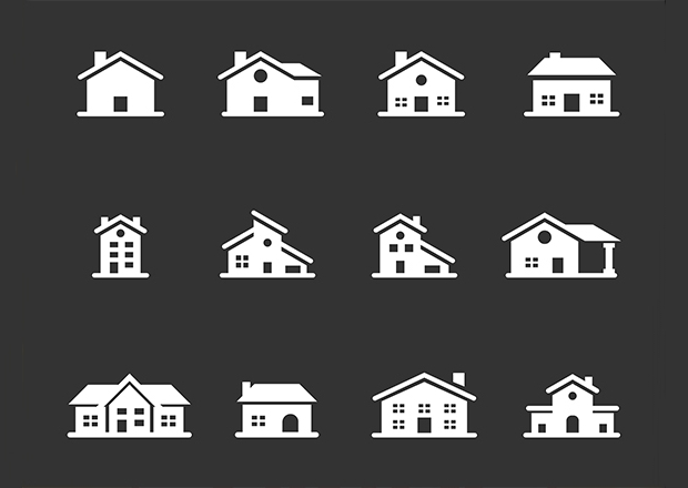 White Home Icon Designs