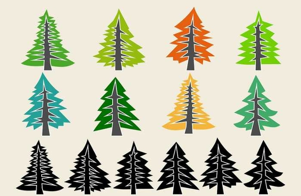 Pine Tree Icon Designs