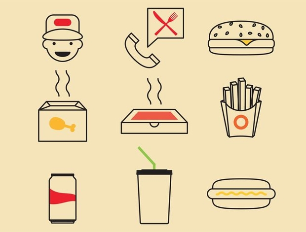 Fast Food Icon Designs