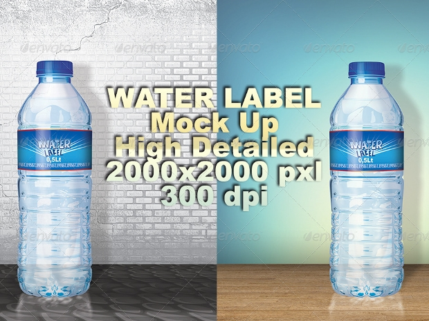 water bottle label design