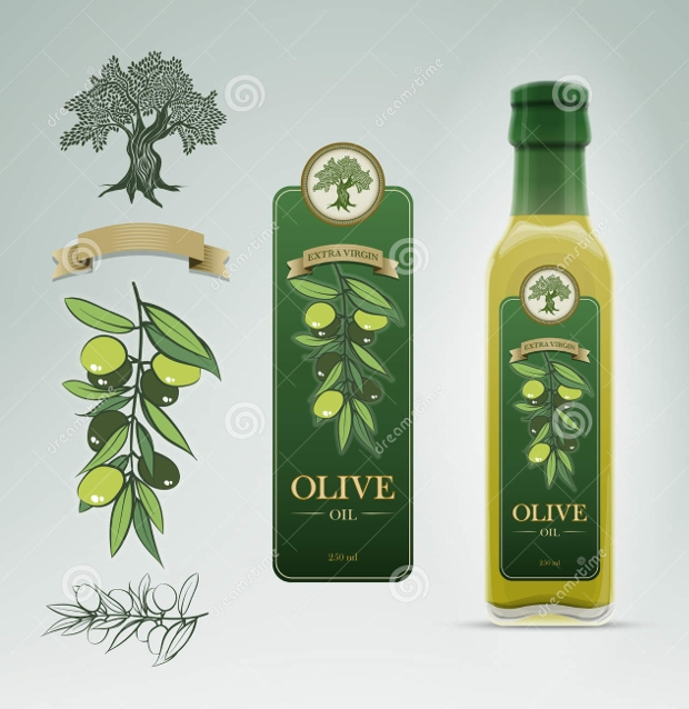 olive oil bottle label design