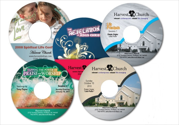 church cd label design