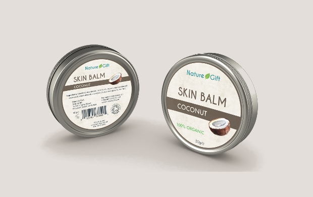 cosmetic balm label design