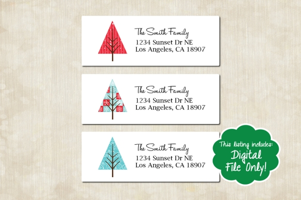 christmas address label designs