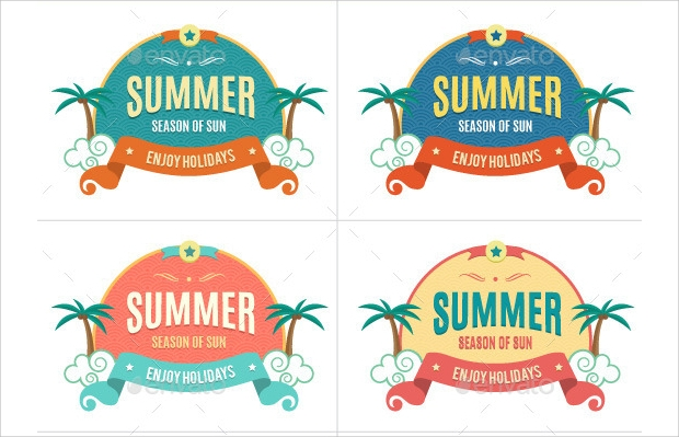 summer holiday label design