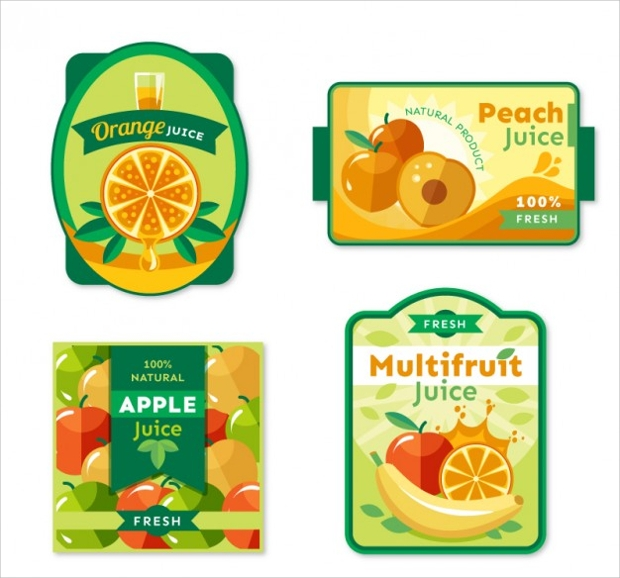 fruit juice label design