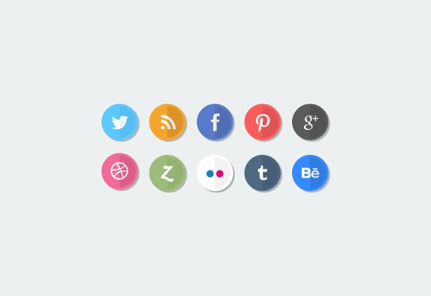 Small Social Media Icons for Business Cards