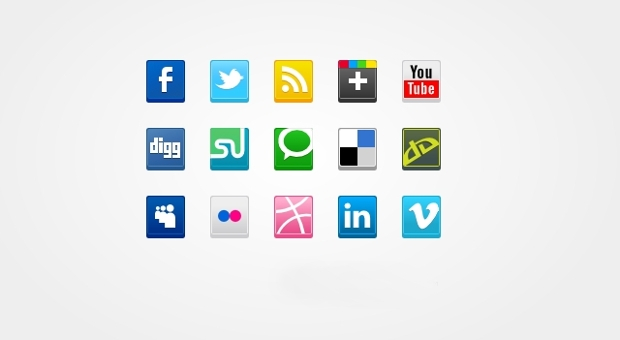 Vector Square Social Media Icons