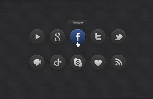 black and white doodle social media icons