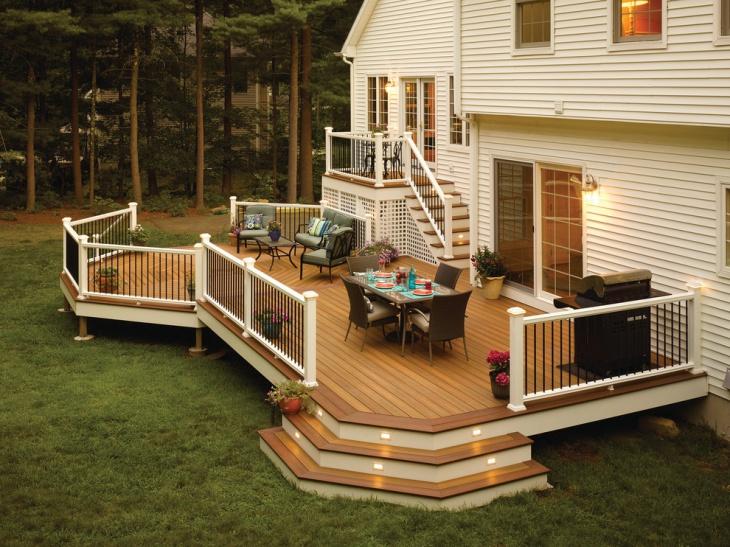 outdoor deck stair design