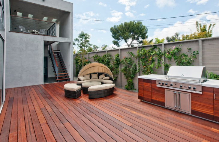 wood deck stair design