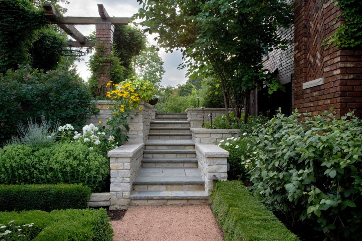 outdoor stone stair design