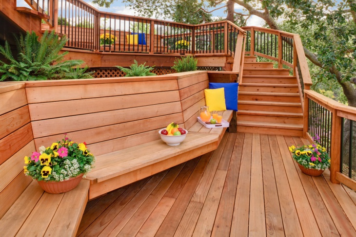 Outdoor Wood Stair Design