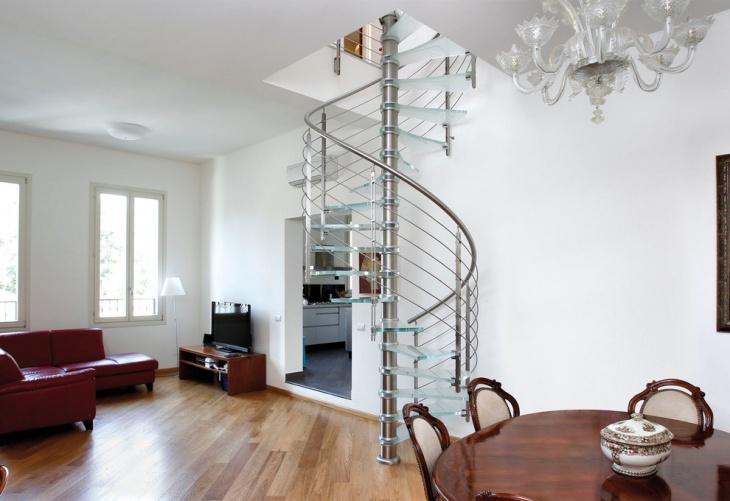 modern glass stair design