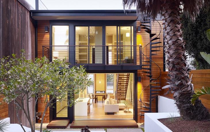 modern exterior stair design