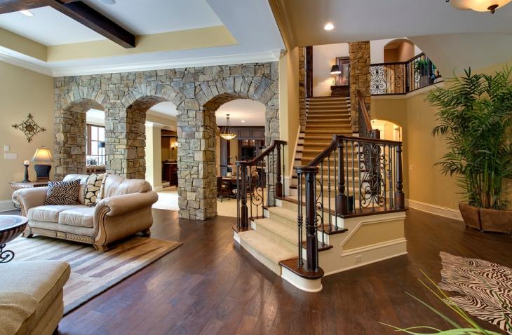 open basement staircase design