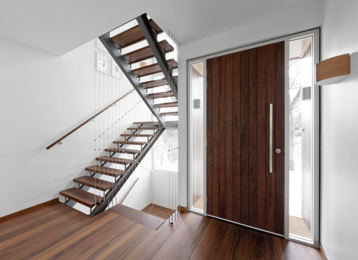 space saving wooden stairs