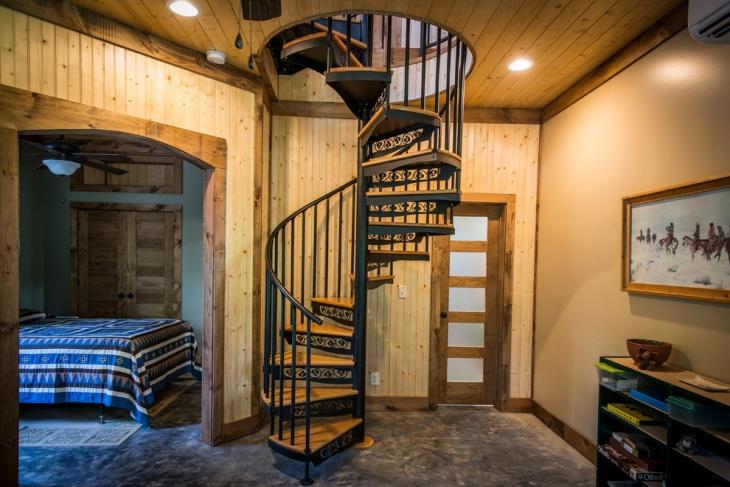 minecraft spiral stair design