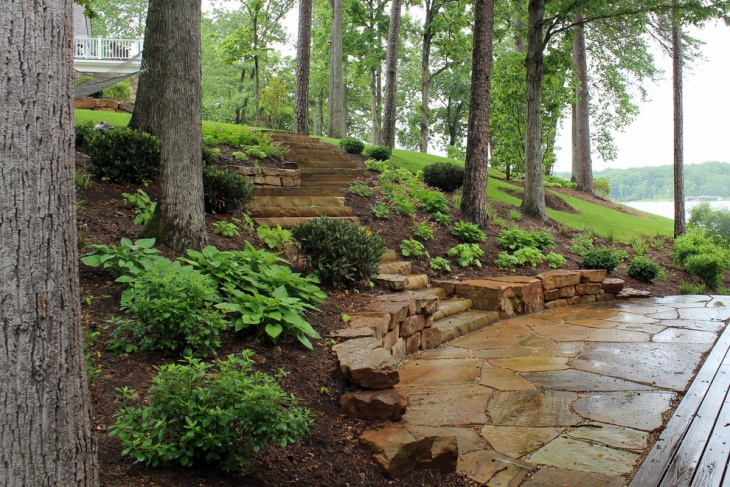 garden slope stair design